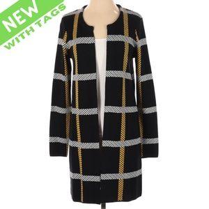 NWT S Lightweight Soft Plaid Chic Coat